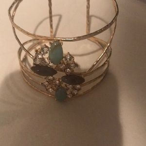 Anthropologie bangle cuff bracelet